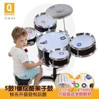 俏娃宝贝儿童架子鼓爵士鼓音乐玩具打击乐器男宝宝早教益智3-6岁1