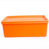 卡秀 大号炫彩 整理箱 储物盒 收纳箱 化妆盒 杂物 衣物百纳箱-橙色(KX623-2)