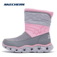 Skehers斯凯奇新款女童冬季套筒雪地靴保暖棉鞋中筒靴