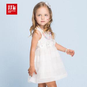 jjlkids季季乐童装女童夏季可爱短裙清凉透气背心连衣裙中小童薄款GXQ63139