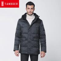 坦博尔冬季新款男装羽绒服爸爸款加厚中老年大码休闲羽绒服TA8659