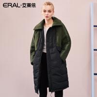 ERAL/艾莱依2018秋冬新款毛呢大衣休闲时尚羽绒外套女617105163
