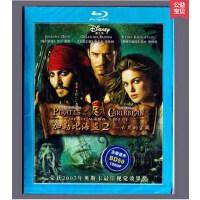 正版蓝光dvd高清电影 加勒比海盗2亡灵的宝藏BD50光盘碟片1080P