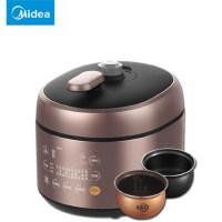 新品Midea/美的电压力锅 MY-SS5052P双胆5L智能家用高压饭煲正品 匀热氧化盘