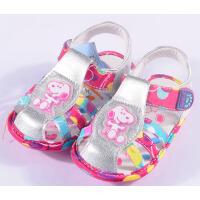 SNOOPY史努比女宝宝软底胶章鞋 NA80673(银色)12.5-14.5