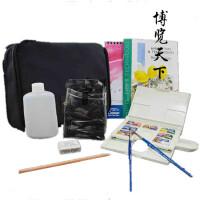 包邮 温莎牛顿 原装进口歌文固体水彩颜料便携旅行袋套装