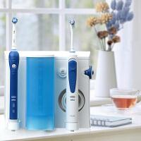 欧乐B(Oralb)电动冲牙器 成人口腔护理 洗牙器水牙线洗牙机 含电动牙刷(配刷头11支)OC20
