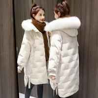 冬季孕妇中长款棉衣2019年冬装孕后期棉袄韩版宽松外套