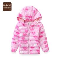 【200-100】binpaw童装女童外套冬装2017新款韩版女宝中大童加棉加厚上衣棉服