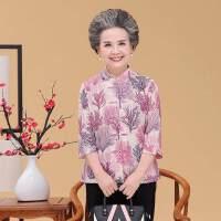 中老年女装夏季套装2018新款老奶奶衬衫两件套60岁70妈妈大码上衣