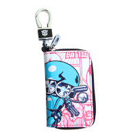 变形金刚 汽车钥匙包 头层牛皮 男女真皮拉链男士钥匙包 腰挂锁匙包创意卡包