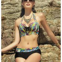 时尚印花 比基尼泳装女大胸聚拢 游泳衣女显瘦分体三角泳衣女 支持礼品卡