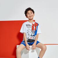 361度童装男童短袖T恤2021夏季男童综训运动衣服短袖上衣N52021206