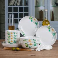餐具套装 送筷子家用陶瓷吃饭筷碗碟套装2020中式微波炉面碗菜盘卡通碗盘