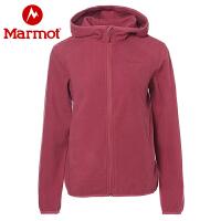 【书香节】Marmot/土拨鼠户外女士摇粒绒保暖开衫抓绒衣