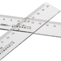 得力20cm厘米塑料直尺6220 尺子 小学生文具 绘图制图工具 透明