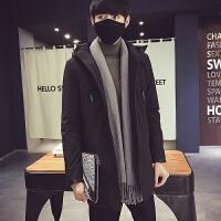 冬装棉衣男士外套加厚韩版修身中长款棉服连帽风衣潮流棉袄子男潮