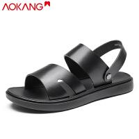 奥康凉鞋男夏季男士真皮沙滩鞋两用凉拖鞋皮凉鞋