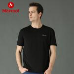 【到手价:119元 6月22日】Marmot/土拨鼠户外运动男式轻薄弹力吸湿排汗防晒短袖速干T恤
