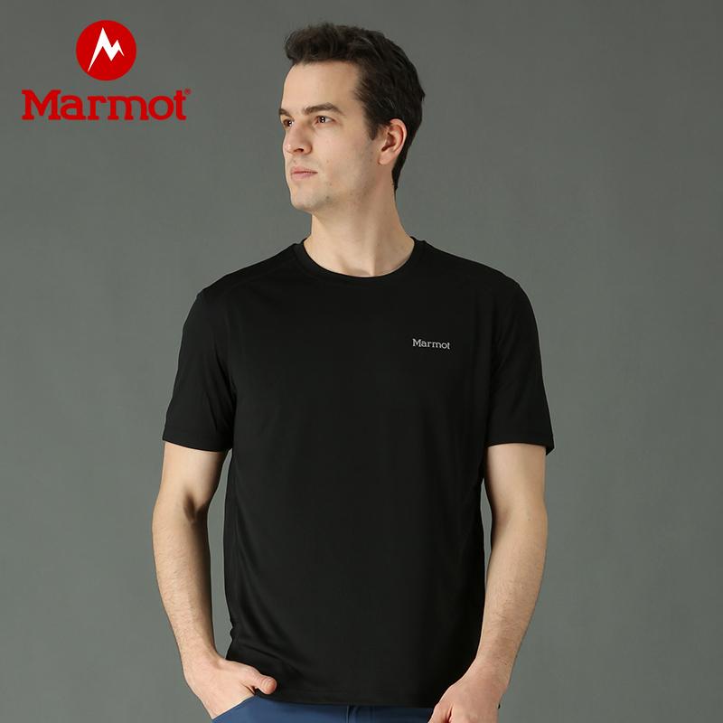 Marmot/土拨鼠夏季新款户外运动男式轻薄弹力吸湿排汗短袖速干T恤 VIP专享96折