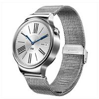 华为 HUAWEI WATCH 经典系列 智能手表(不锈钢编织表带)星河银