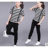 短袖女童韩版时尚新款儿童休闲百搭运动套装10童装9-11周岁12大童13女孩15