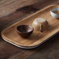 当当优品 橙舍创意小茶托竹制干泡茶盘 功夫茶具配件茶台茶海环保水果托盘小号