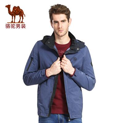 【12.12狂欢节,超低价仅限今天】骆驼男装 春季青年宽松散口袖休闲外套jacket男夹克衫