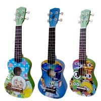 尤克里里UKULELE 多彩萌图小四弦琴乌克丽丽 21寸小吉他