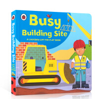 英文原版 Busy Building Site 幼儿翻翻书绘本 Lift-the-flap Book Busy小瓢虫翻