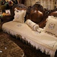 欧式沙发垫防滑四季通用布艺坐垫美式真皮123组合套定做