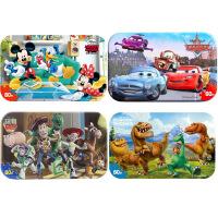 【当当自营】迪士尼拼图玩具 60片铁盒木质拼图四合一(米奇2390+赛车2393+玩具总动员2267+恐龙当家2395