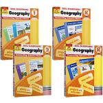 Evan-Moor Skill Sharpeners Geography PK-GK-1-2 地理4册 小学低年级 美