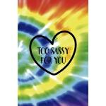 预订 Too Sassy For You: Notebook Journal Composition Blank Li