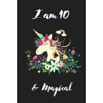 预订 Unicorn Journal I am 10 & Magical: Cute Girls Journal/No