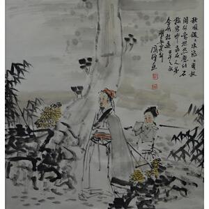 中国美术家协会会员 刘国辉 《秋风谡谡水潺潺》