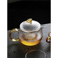 小号家用单壶泡茶花茶壶红茶专用茶具套装单人玻璃耐热高温烧水壶