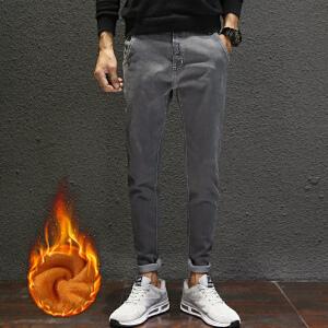 【超划算】 【买了都说好】日系新款加绒牛仔裤港仔文艺男修身金丝绒弹力保暖加绒裤