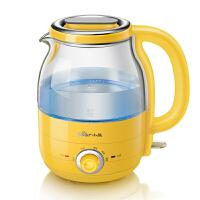 小熊(Bear)电热水壶 5段保温热水壶加厚玻璃304不锈钢发热盘烧水壶1.2升容量 黄色 ZDH-A12R2