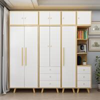 老睢坊 北欧衣柜简约现代经济型简易组装儿童实木板式出租房小户型大衣橱