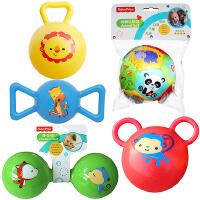 【当当自营】费雪(Fisher Price)儿童玩具球(认知球12片+摇铃球黄色+哑铃球绿色+糖果球蓝色+拉拉球红色)