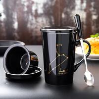 个性潮流水杯办公室马克杯带盖勺创意杯子陶瓷泡茶杯过滤咖啡杯