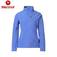 Marmot/土拨鼠2020春季新款户外女士防泼水弹力开衫 M3软壳衣