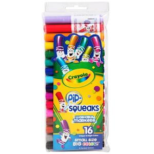 当当自营Crayola 绘儿乐 16色可水洗短杆粗头水笔 58-8703