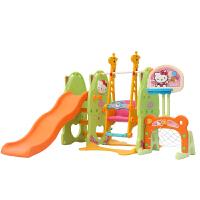 麦宝创玩 儿童室内滑梯家用多功能滑滑梯 Hellokitty公主房宝宝组合滑梯秋千塑料玩具 Hellokitty升级七