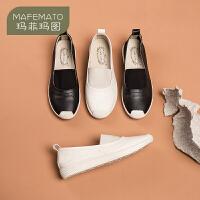 玛菲玛图小皮鞋女英伦2021新款春秋女鞋真皮软底孕妇妈妈鞋平底上班工作鞋5159-1