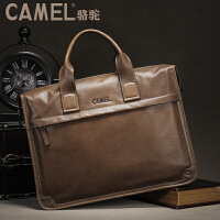CAMEL骆驼皮具 头层牛皮 手提包斜跨男士包 商务休闲公文包