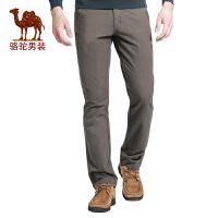 骆驼牌男装 秋季时尚欧美简约纯棉休闲裤 宽松长裤子