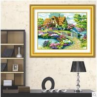 菲绣精准印花十字绣 美丽家园大幅客厅大画 温馨家园风景花园