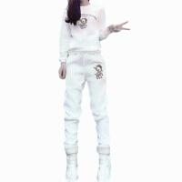 运动套装女秋冬韩版宽松加绒卫衣两件套2017新款大码时尚休闲服潮